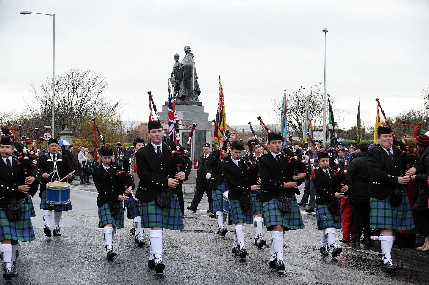 Remembrance day in Fraserburgh
