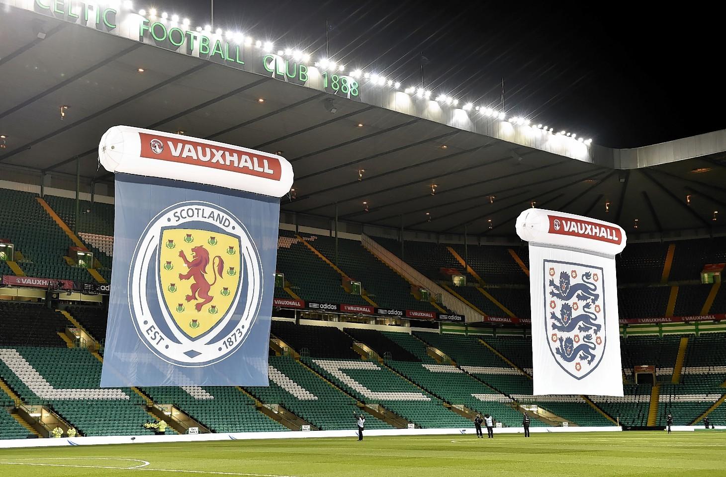 Scotland v England at Celtic Park