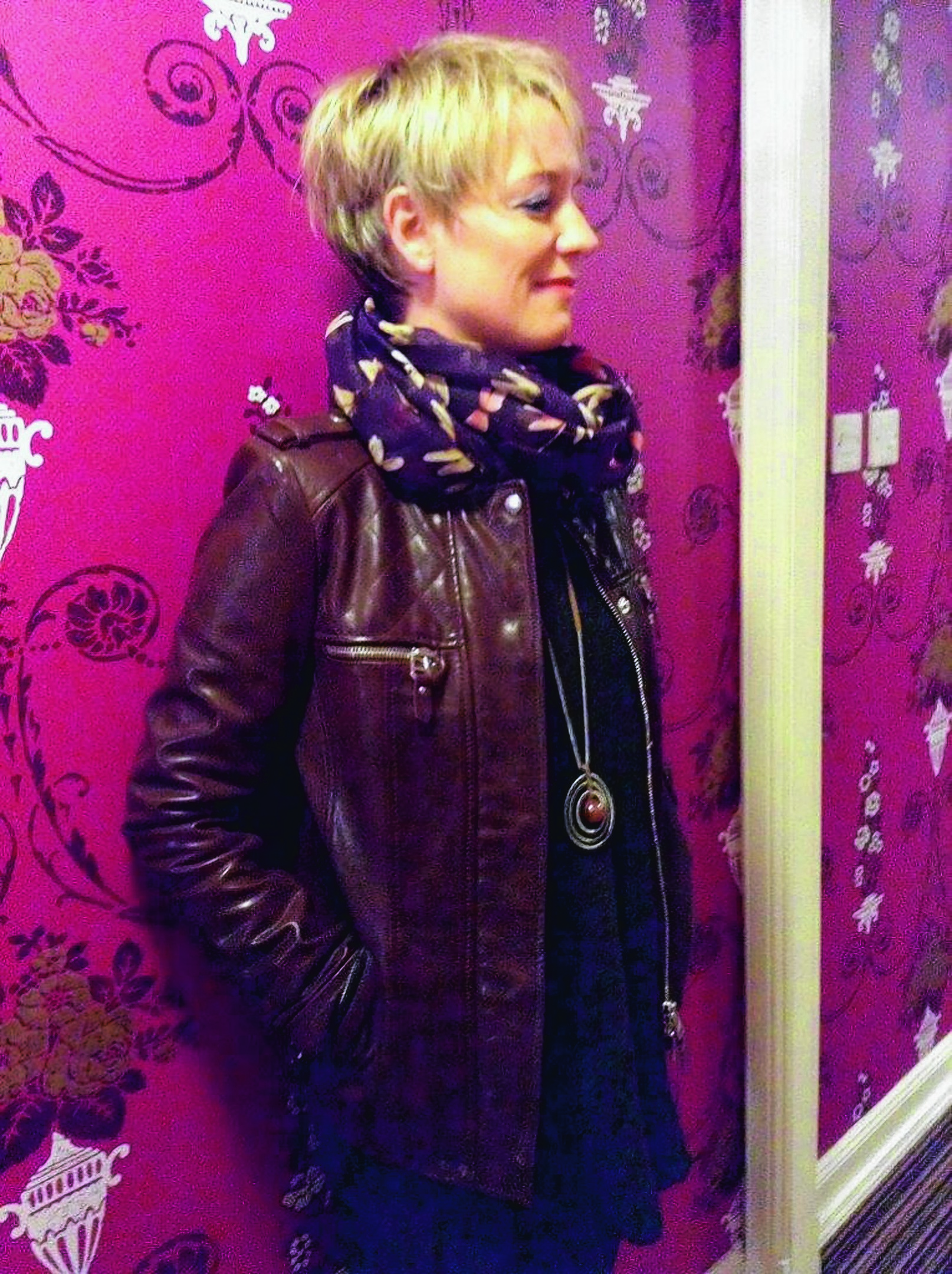 Stunning brown leather jacket available from Fashionista of Oldmeldrum. Tel: 01651 873434
