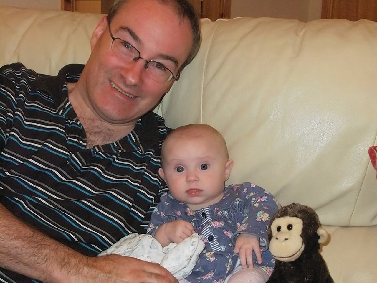 Dad Alan Perkins with little Emma