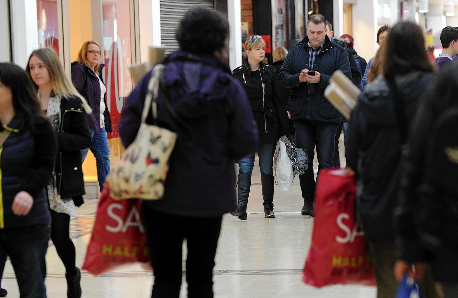 Boxing Day shoppers in the Eastgate Centre