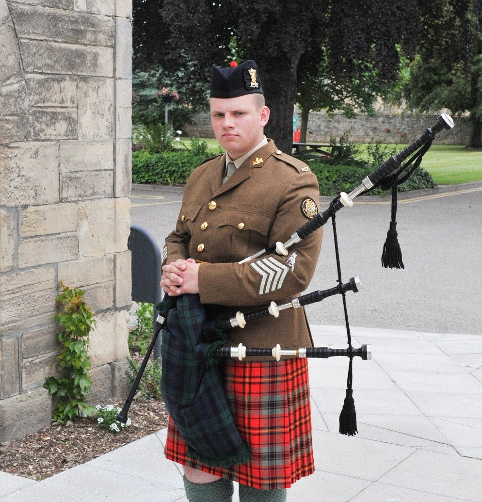 Cadet Pipe Major Ryan Anderson