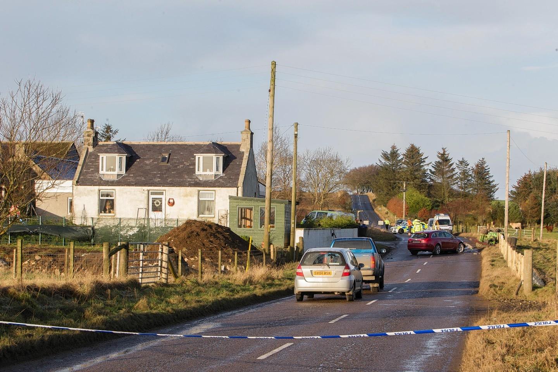 Scene of the crash near Cuminestown