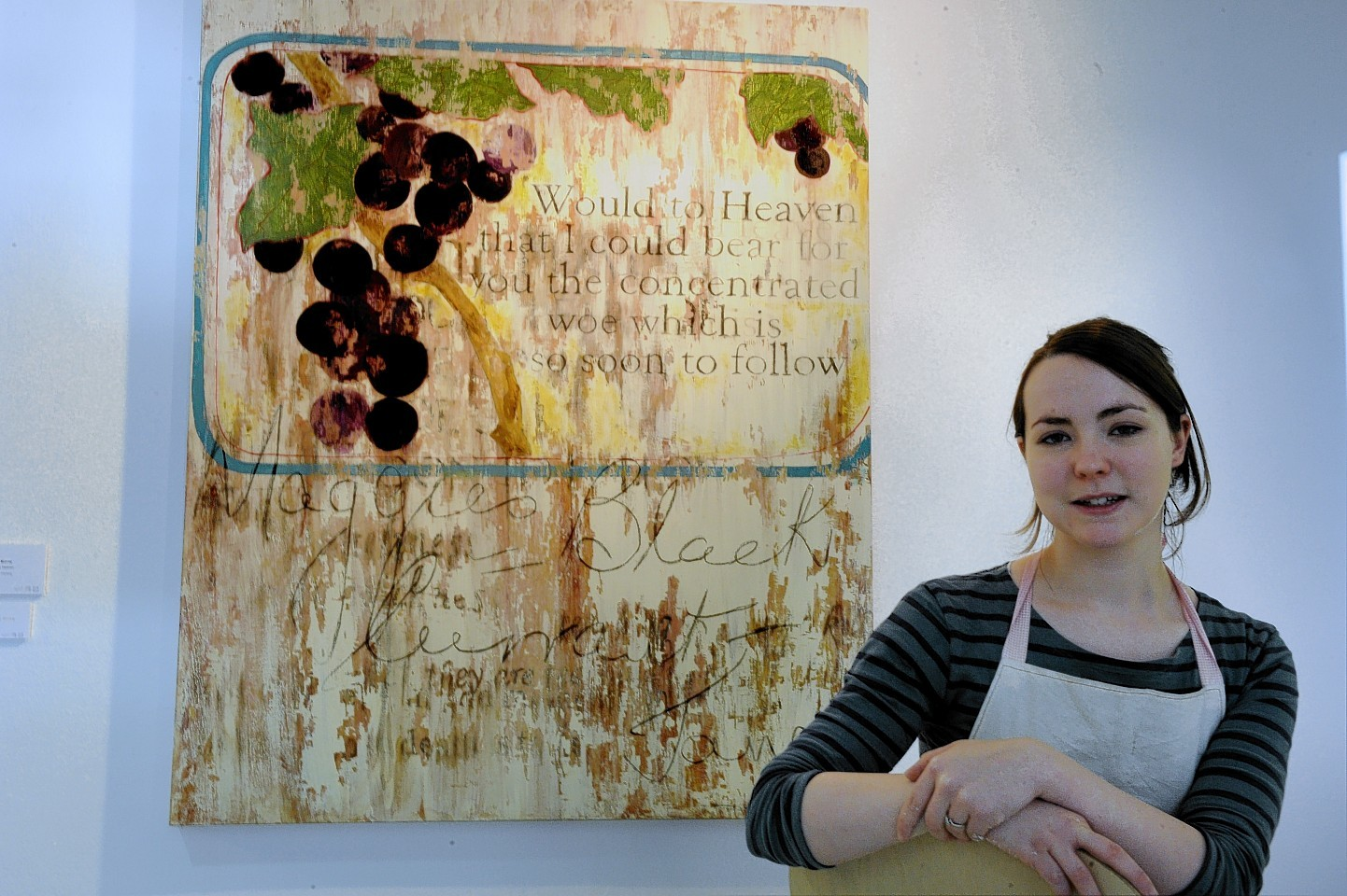 Hannah Murray, who won first prize for her painting