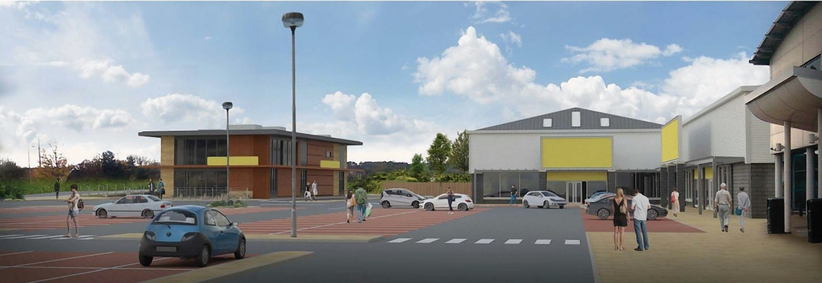 The site to be redeveloped at Inshes Retail Park
