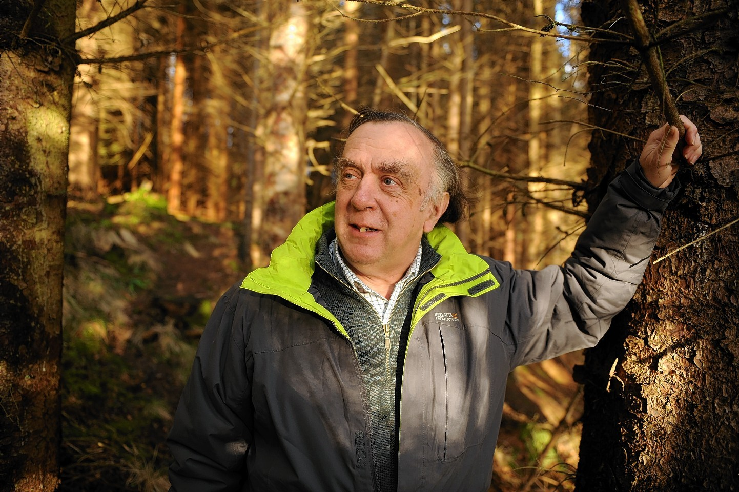 John Graham, treasurer of Aigas Community Woodland