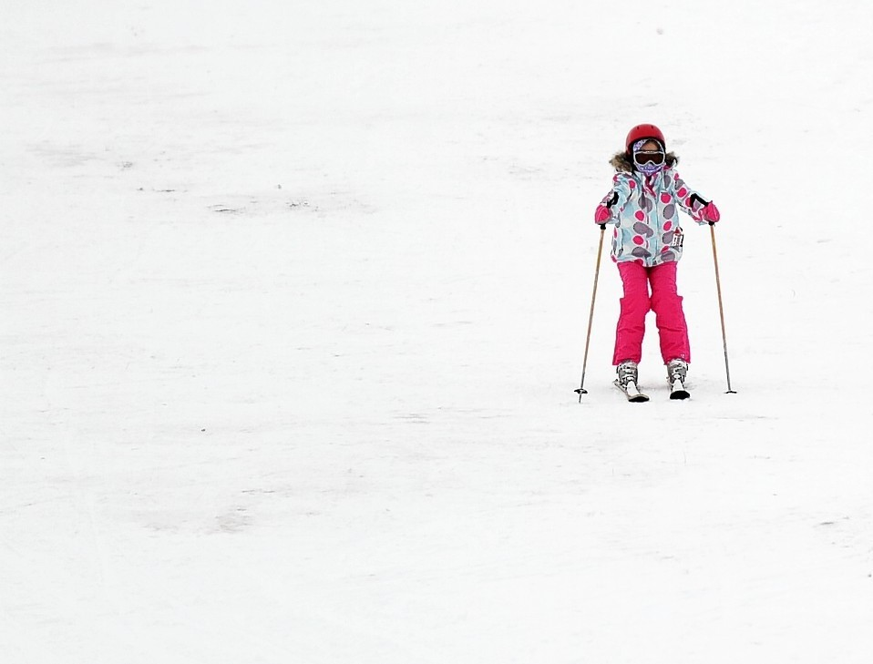 Skiers at the Lecht recently