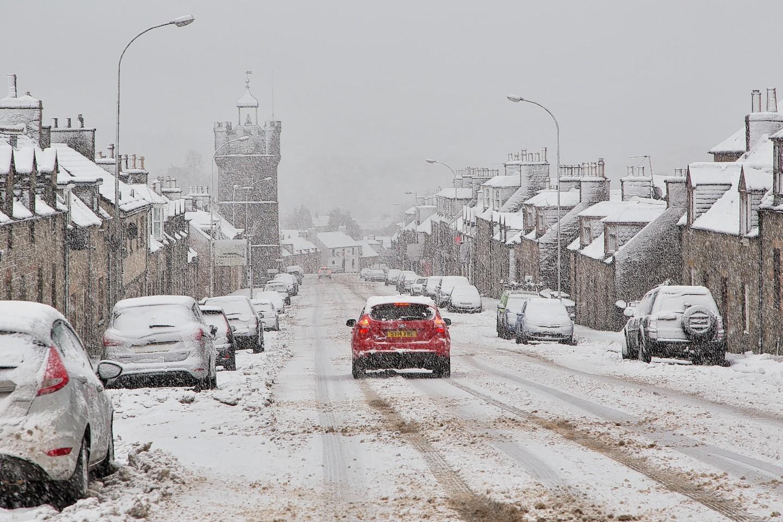 Snow in Moray in December