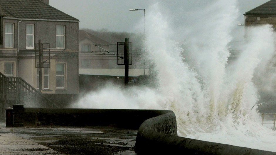 Severe weather in the north of Scotland