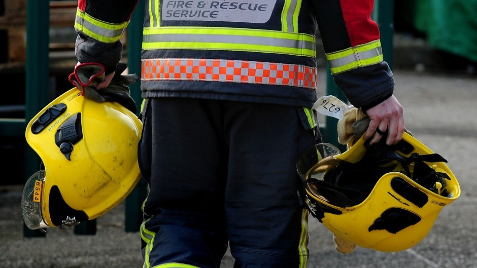 Firefighters had to stabilise the vehicles after the crash before one of the occupants could be removed