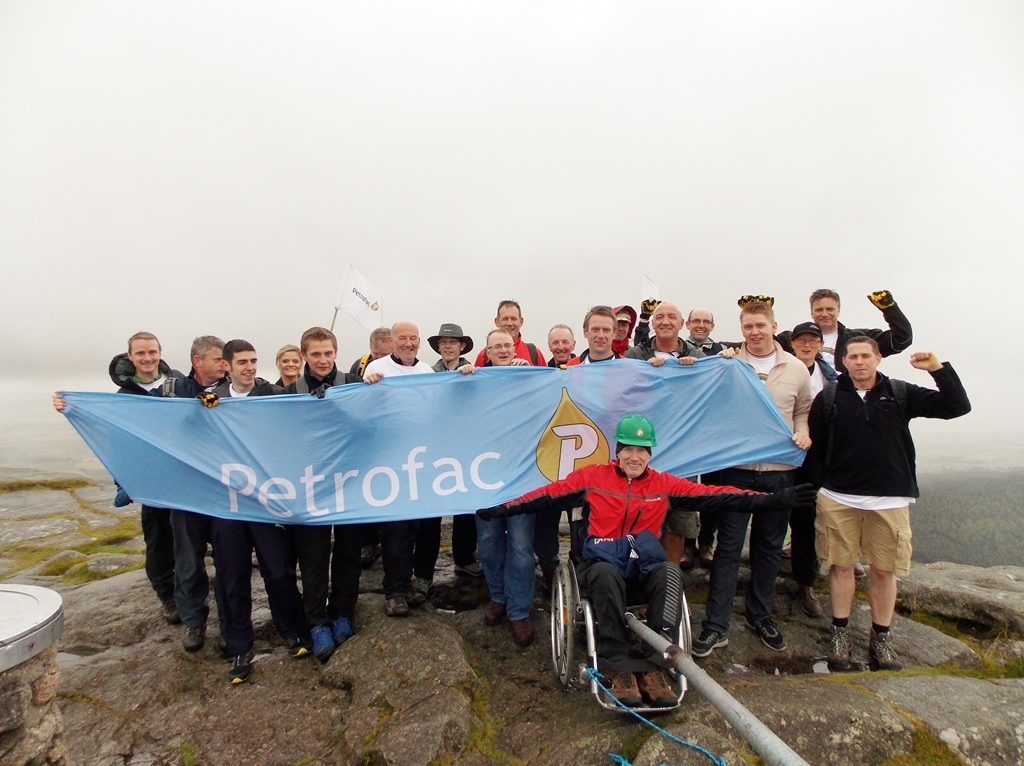Petrofac staff at the summit of Bennachie