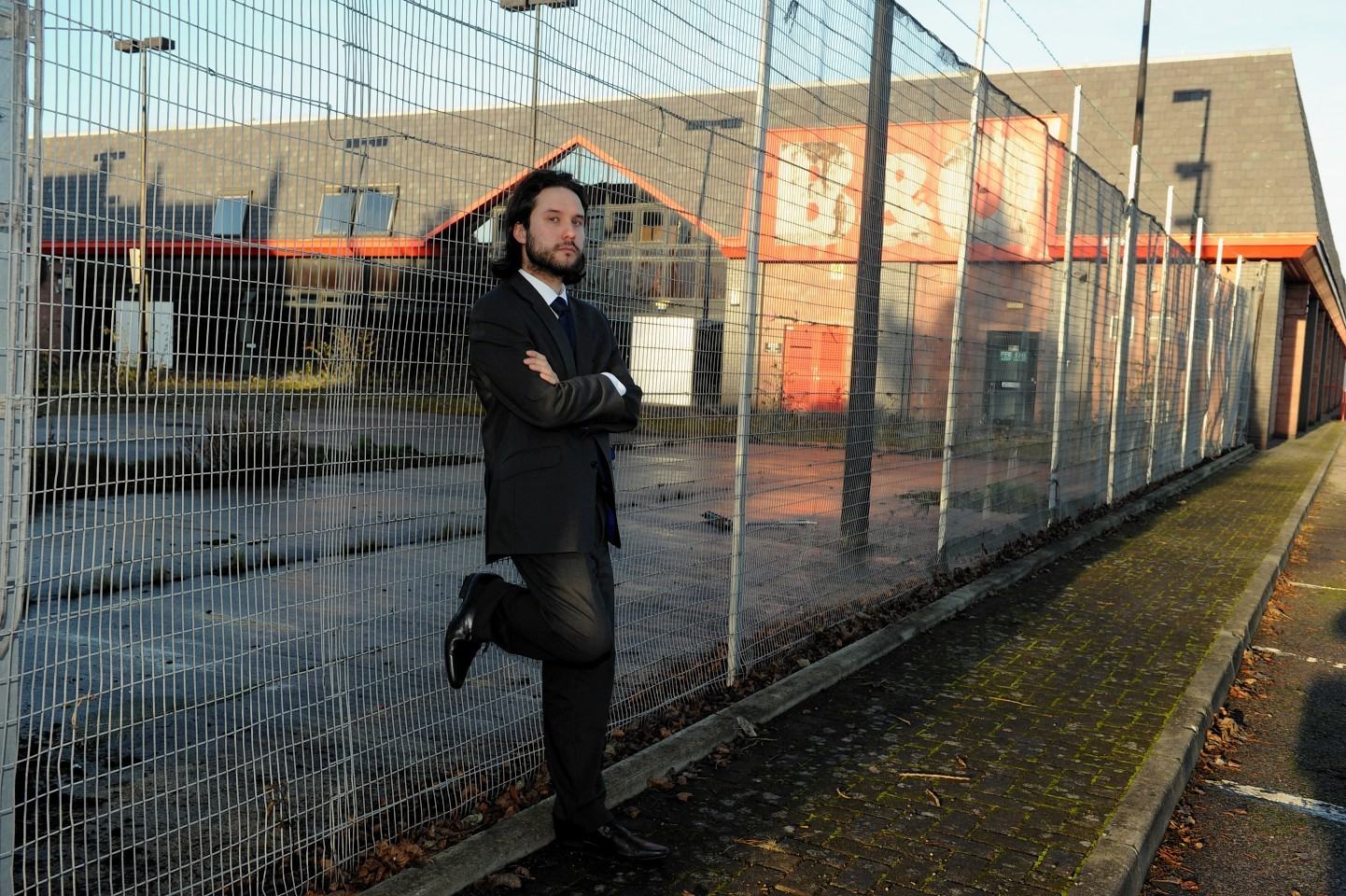 Councillor Richard Laird at the site of the former B&Q in Inverness