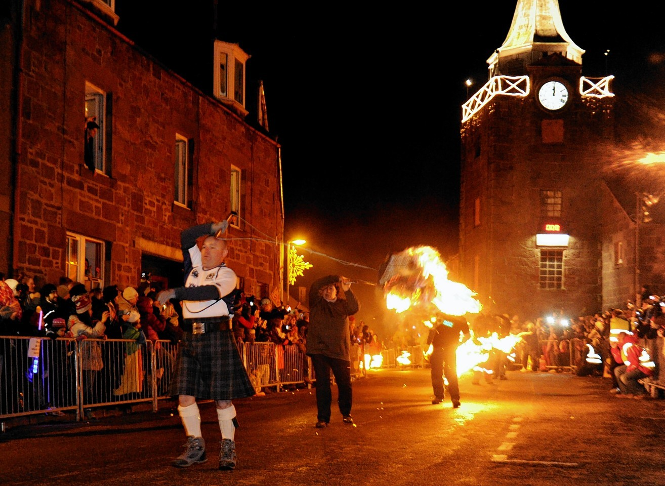 Revelers bring in 2015 in Stonehaven. Photo by Colin Rennie
