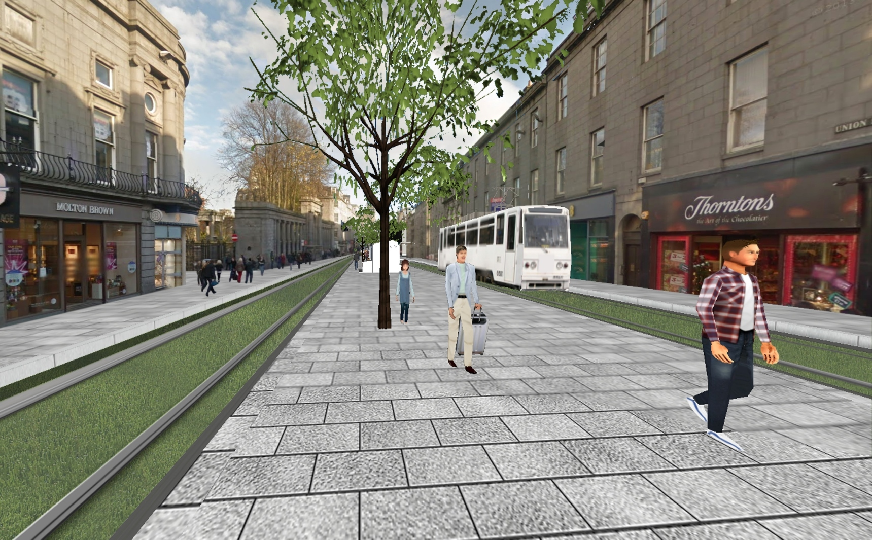 This image shows Dr Bennadji's vision for Union Street