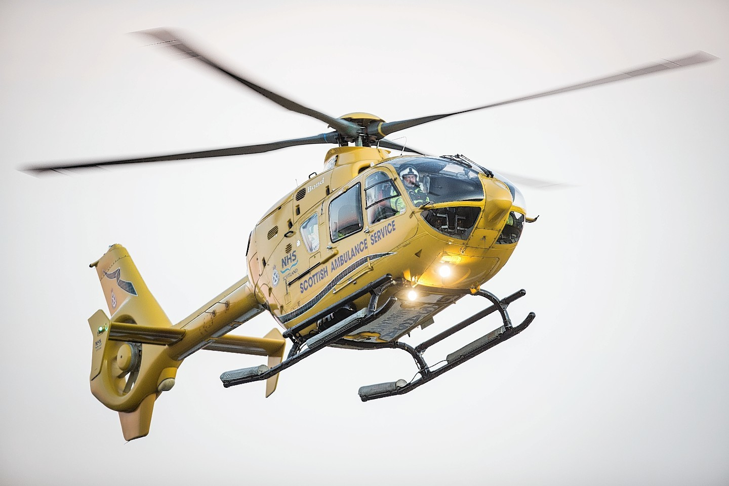 An air ambulance was called in to evacuate casualty to hospital