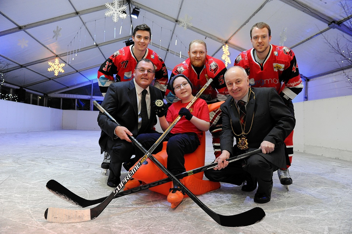 Aberdeen's outdoor ice rink opens at Union Terrace Gardens