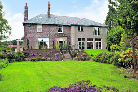 Toftwood, a six-bedroom pink granite home in Milltimber