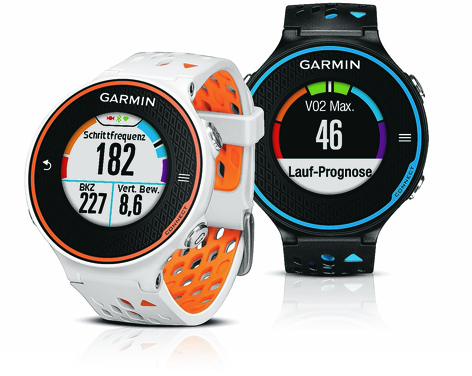 The Garmin Forerunner GPS watch is ready for action right out of the box