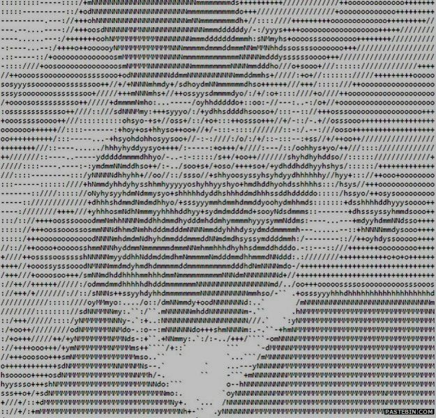 Sometimes the hackers leave an image of their logo created from characters