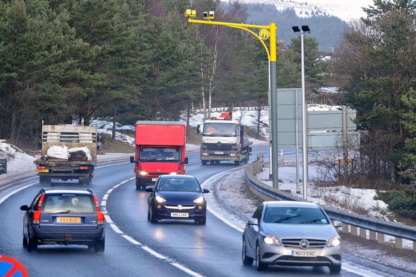 The A9 average speed cameras were switched on over a year ago