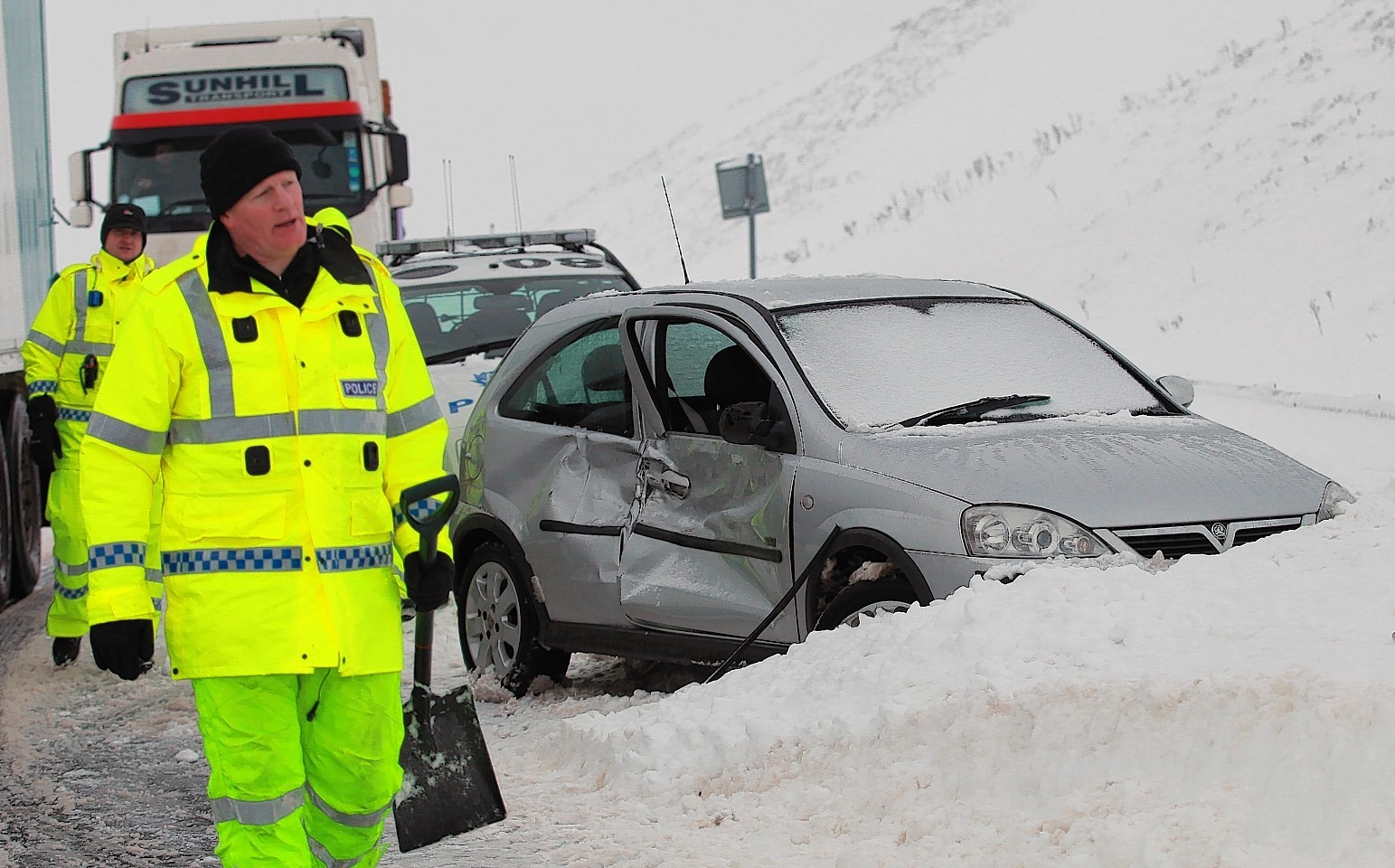 Drivers on the A9 have been  hit with serious delays due to snow