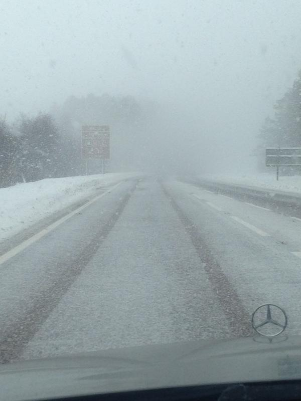 Drivers have been battling the blizzards on the A9 today.