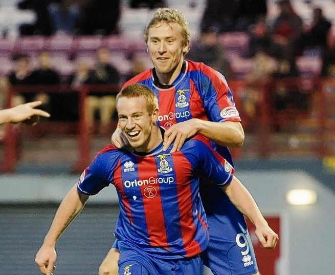 Adam Rooney previously played alongside Richie Foran with Caley Thistle.