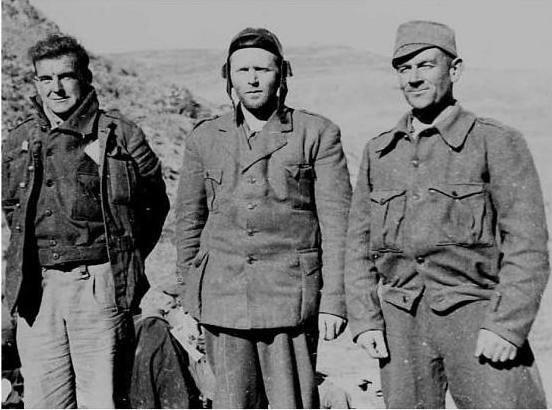 Aberdeen men Archie Dewar, Bob Cooney and Tom Davidson in spain duirng the country's civil war