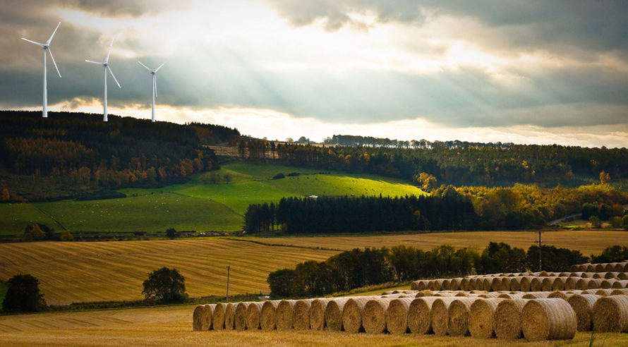 Artist impression: What the proposed Black Isle turbines might look like according to the protestors