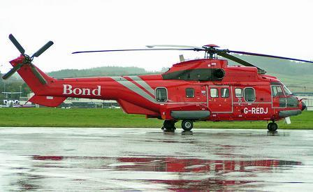 A Bond EC225 helicopter