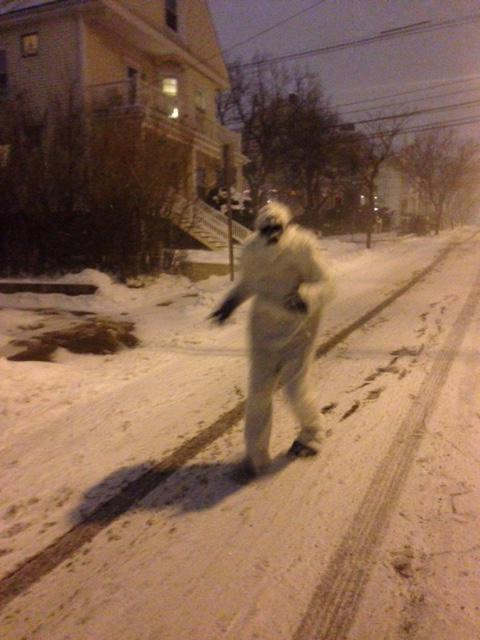 The Yeti prowling the streets of Boston