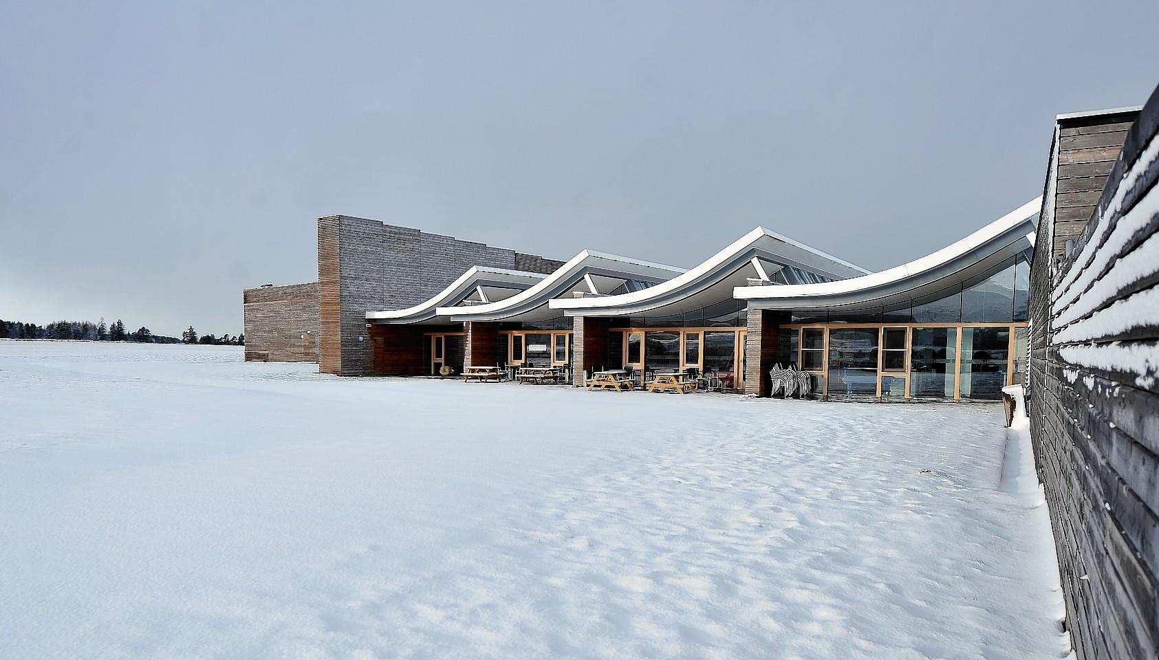 Snow at Culloden Battlefield