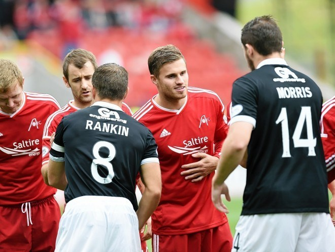 David Goodwillie will line up against his former side today.