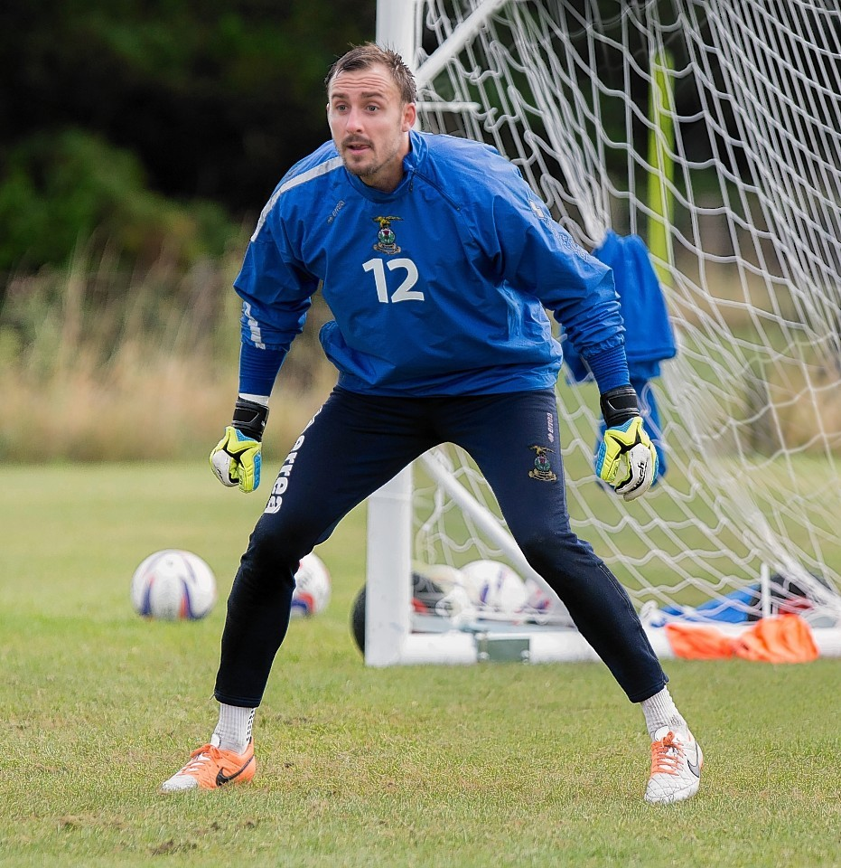 Goalkeeper Dean Brill is a doubt for Inverness