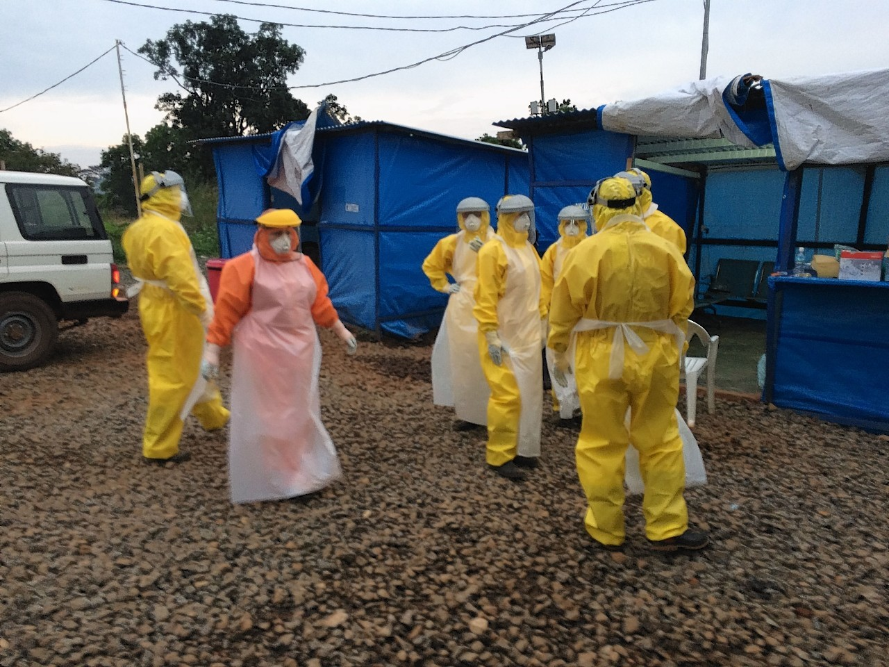 Dr Chris Mair volunteered to fight Ebola in West Africa