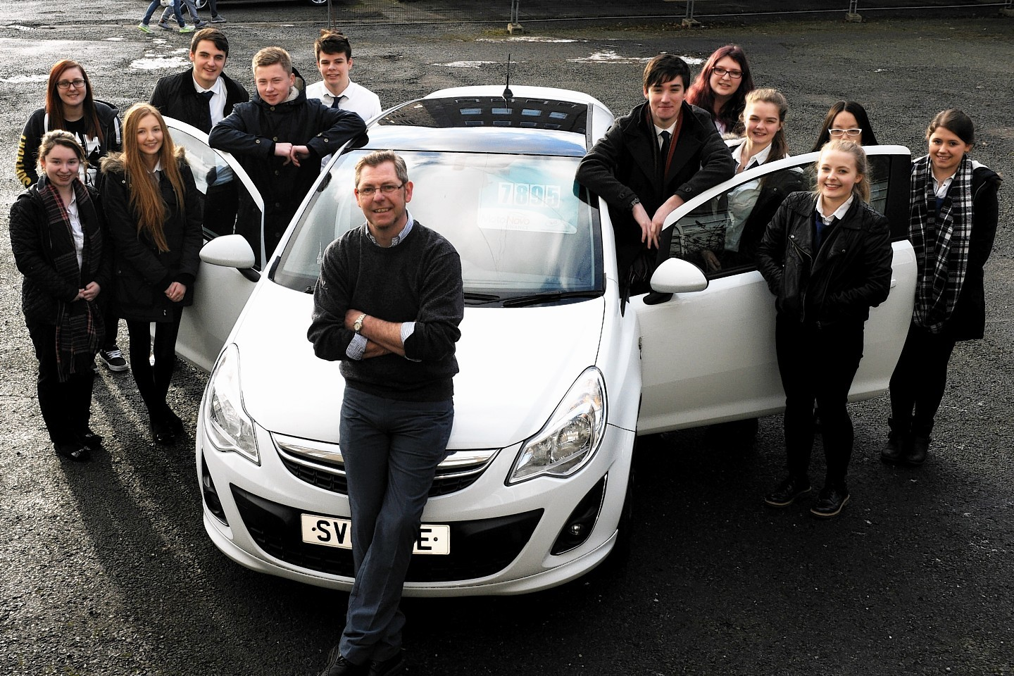 The DAB Plus Driver Training road safety event at Ellon Academy will continue today