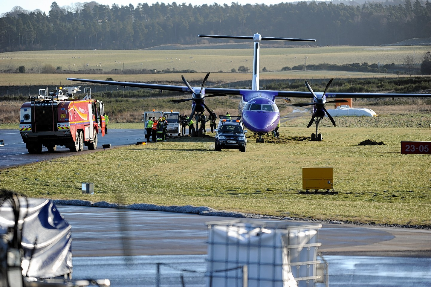 The plane was carrying 48 passengers when it veered off the runway