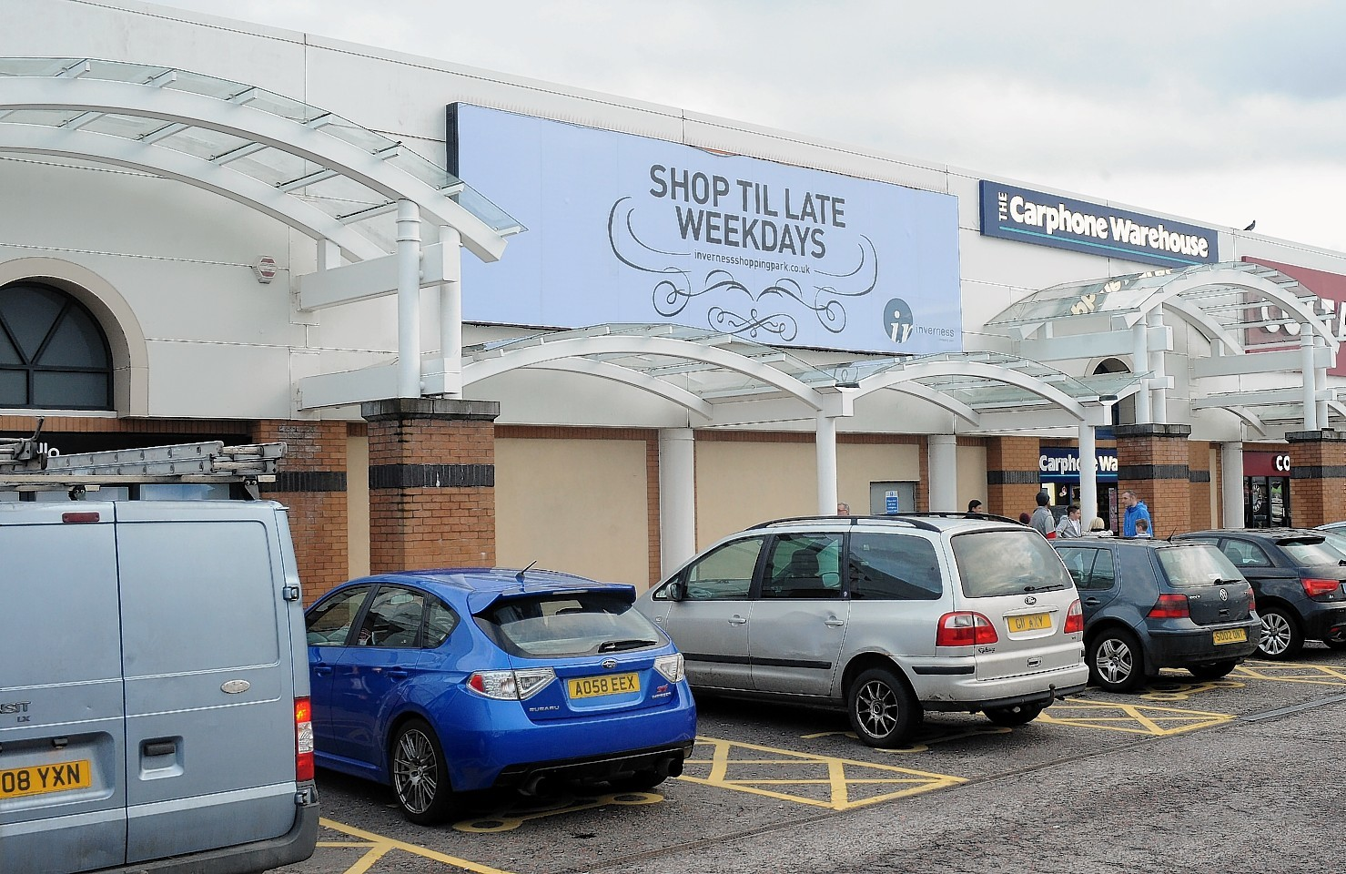 The empty unit at Inverness Shopping Park where the restaurants are planned