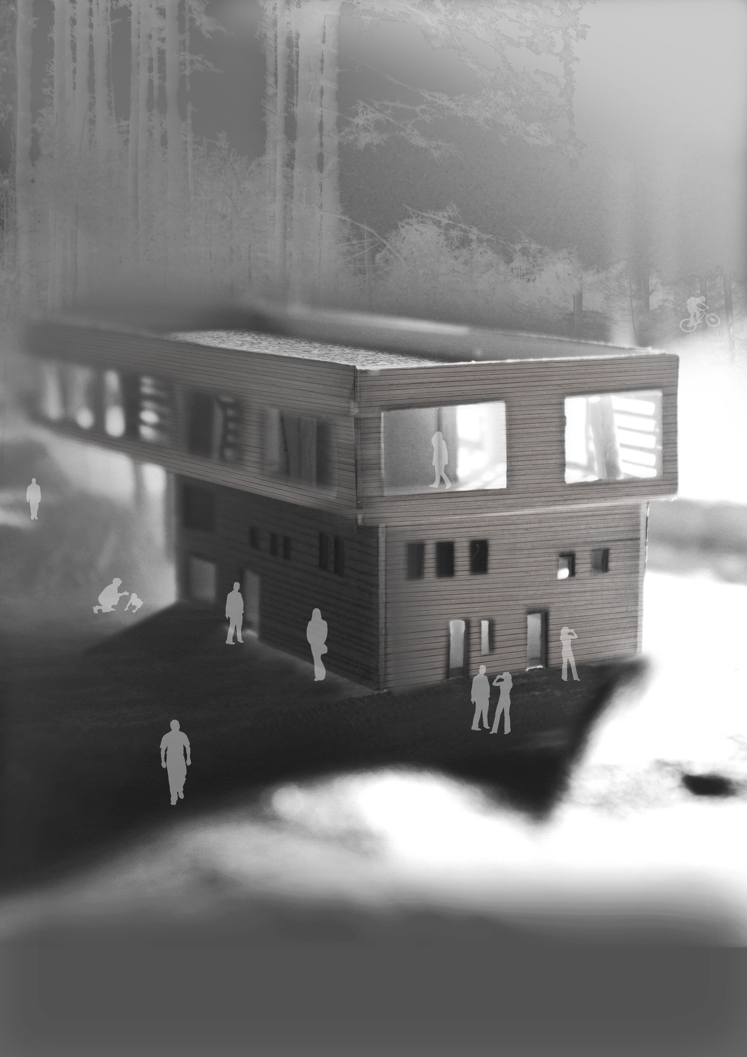 A design for the centre by second year architecture student Johanna Kleesattel
