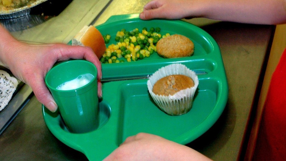 All pupils in primary one to primary three will be entitled to a free school meal from Monday