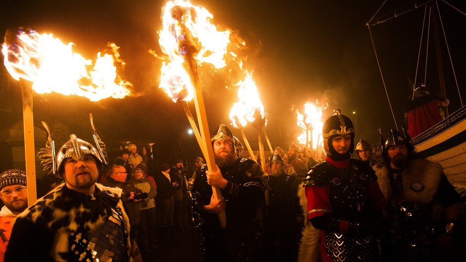 The Up Helly Aa Viking festival on Shetland, attracts visitors from around the world each year.