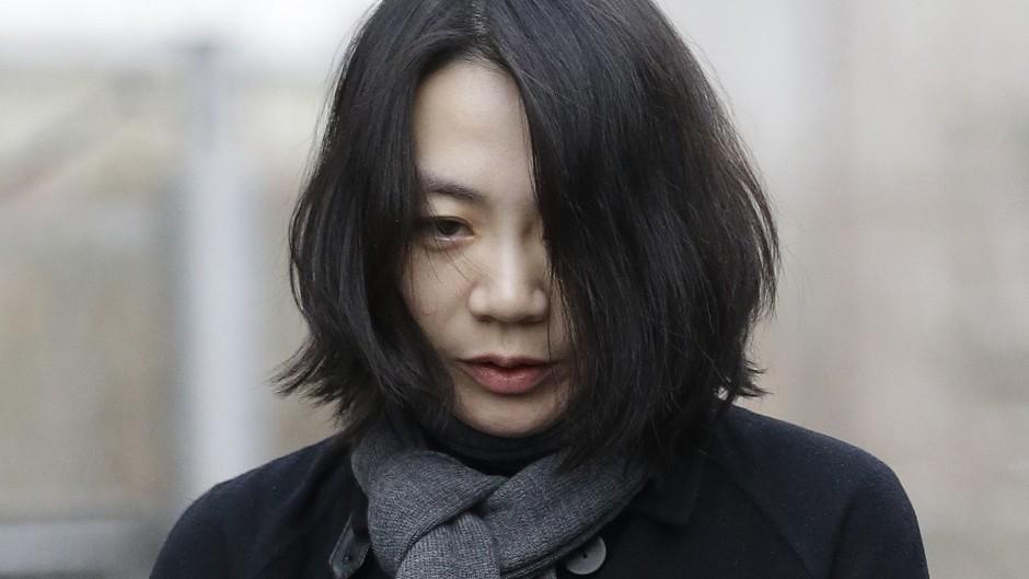 Former air executive Cho Hyun-ah denied violating safety law during an incident involving macadamia nuts on a Korean Air flight