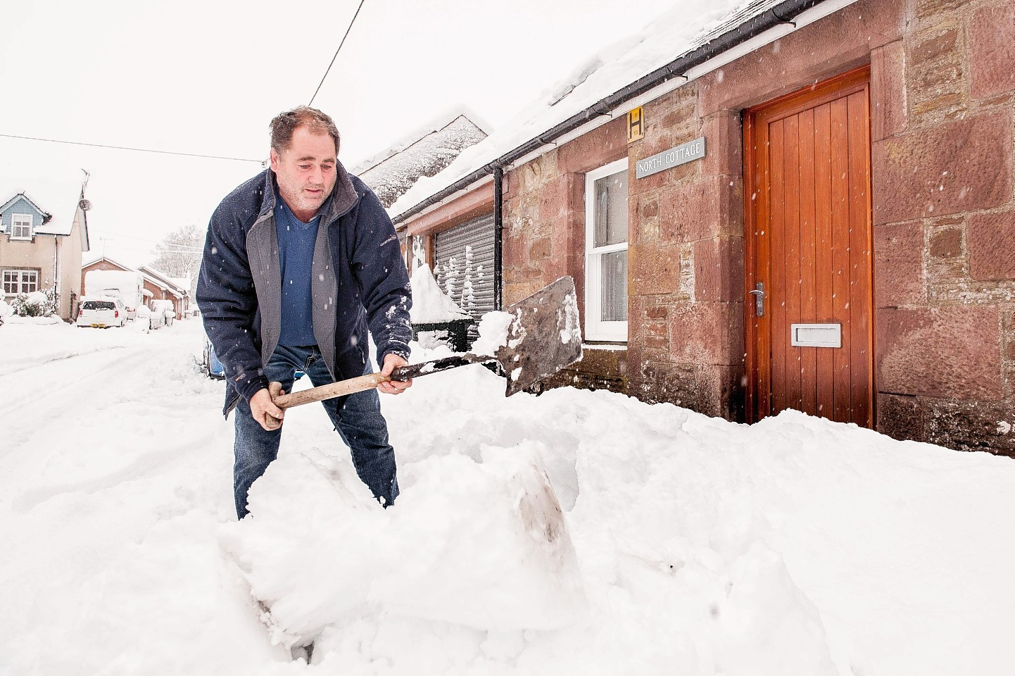 Perthshire has been particularly badly hit by the snow.
