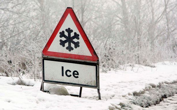 Ice caused has chaos on north-east roads
