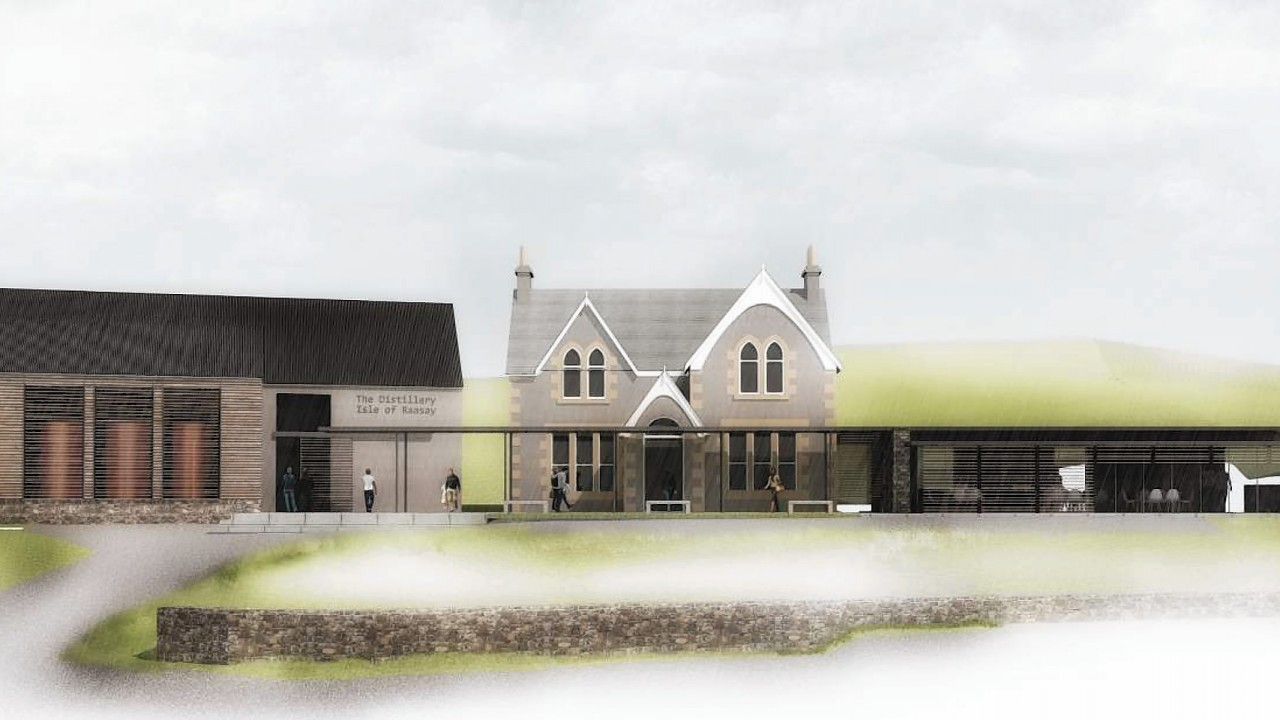 Artist impressions of the new Raasay Distillery