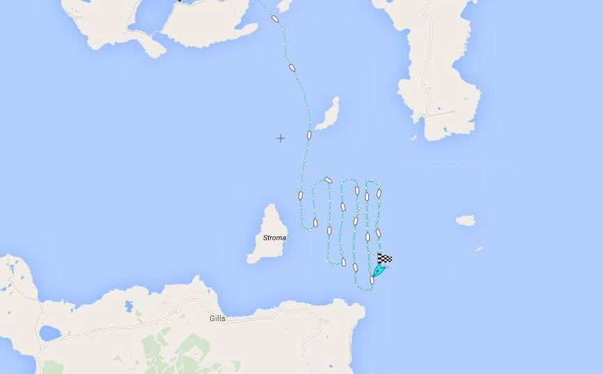 Route of Longhope lifeboat