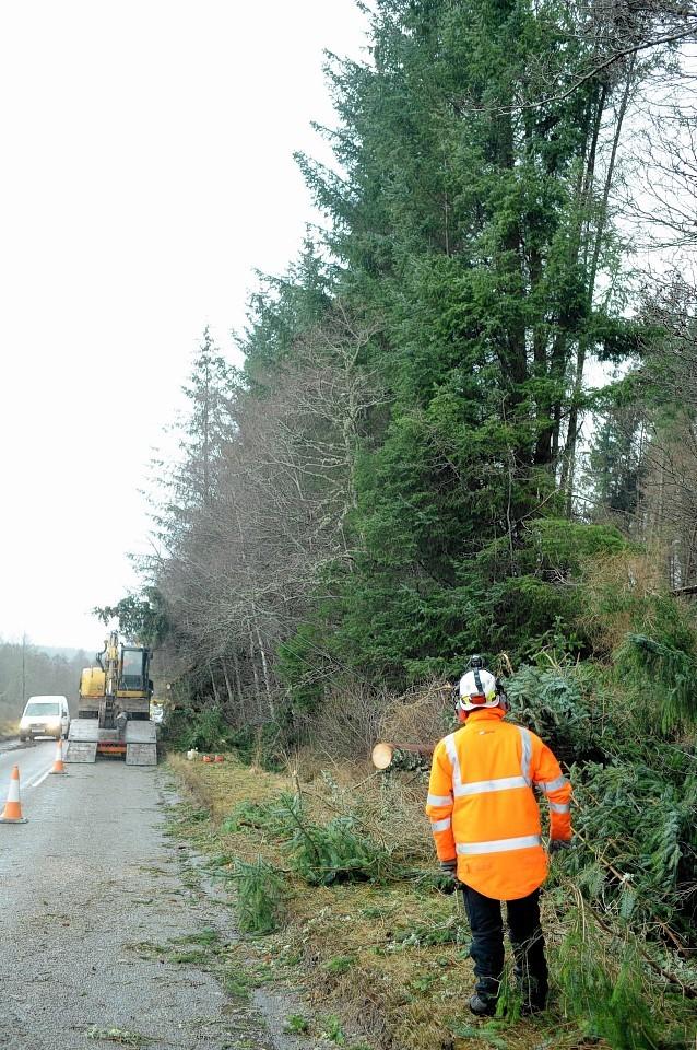 SHEPD engineers working to restore power