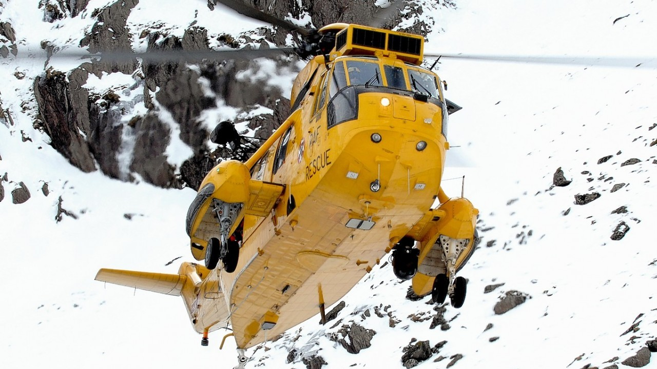 A Royal Navy Sea King 177 joined the rescue operation