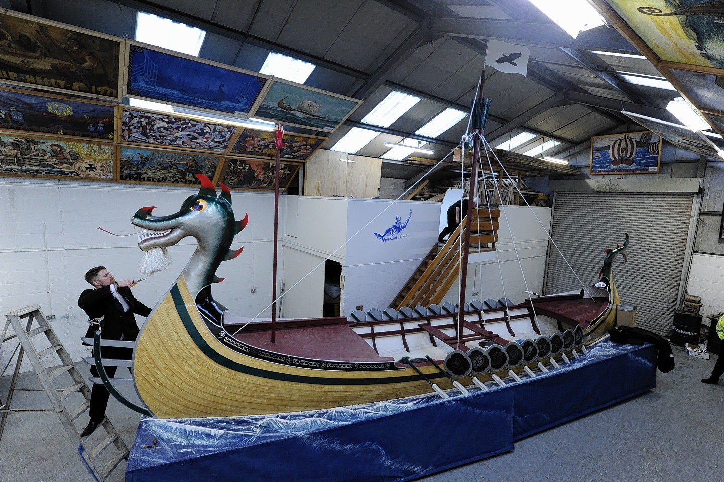 Preparations for Up Helly Aa in Shetland as it gets under way (pictures by Kenny Elrick)