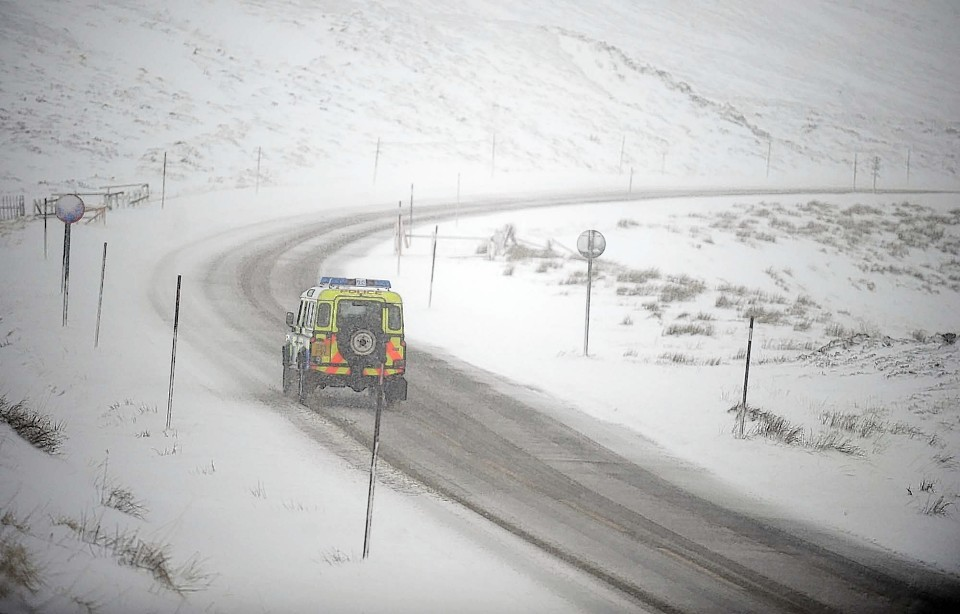 The A93 Braemar to Glenshee road earlier this year
